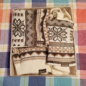 Muk Luks Infinity Scarf, Hat, and Gloves Set